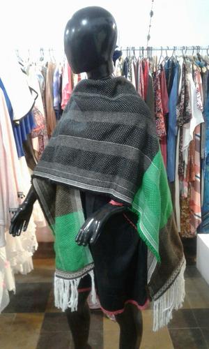 ruana confeccionadas en telar artesanales