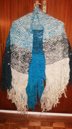 ruana de lana a telar