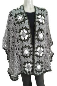 b8acb5c7f Ruana Exclusiva Artesanal Crochet Mujer Poncho Envíos Gratis
