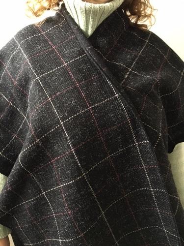 ruana  poncho pura lana