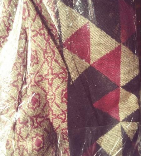 ruanas  etnicas rombos importadas reversible poncho de campo