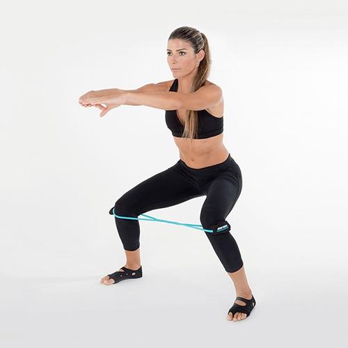 rubber tube leve c/ alça tornozelo exercício mormaii 4460
