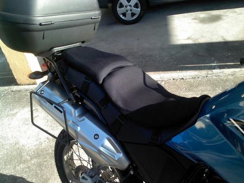 rubbergel motoconfort.  almofadas de gel kit piloto e garupa
