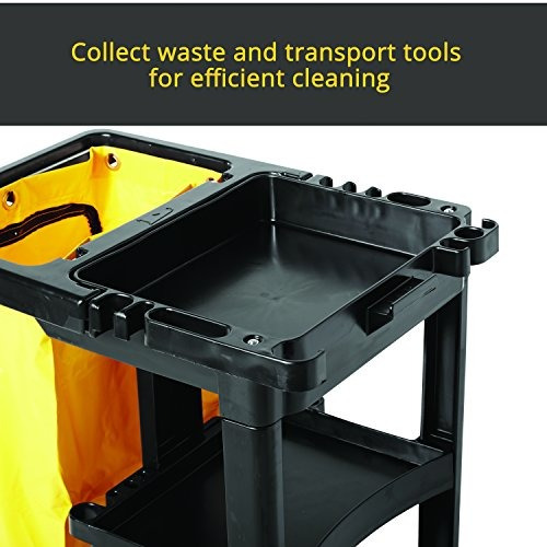 rubbermaid commercial housekeeping carrito de 3 estantes con