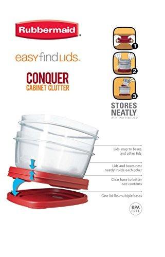 rubbermaid - fácil de encontrar la tapa del envase de almac