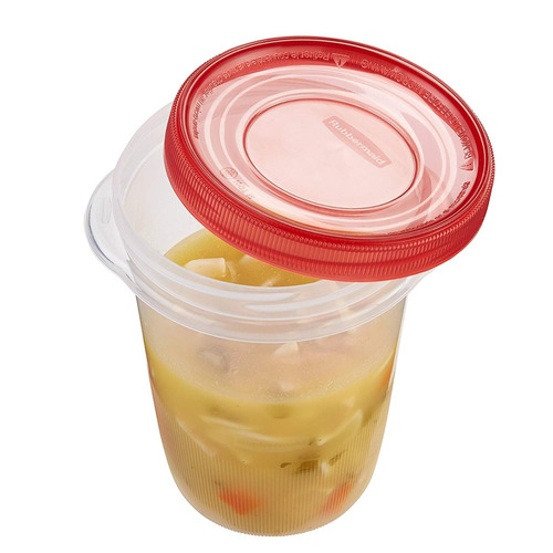 rubbermaid takealongs twist & seal food almacenamiento conte