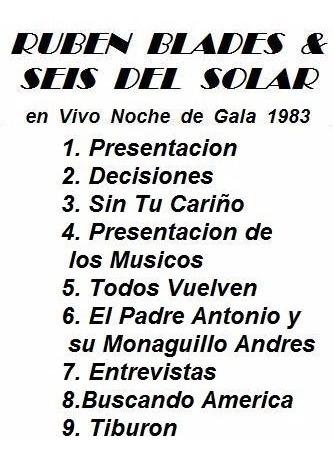 ruben blades & seis del solar en vivo 1983 dvd