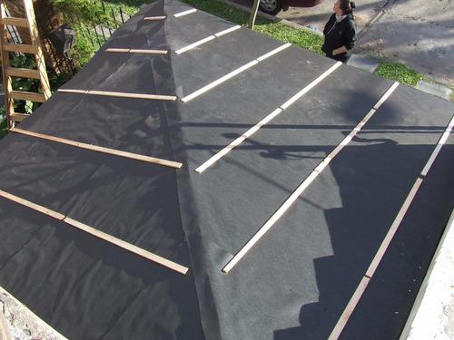 ruberoid (fieltro asfaltico) pesado x 40mts para techo