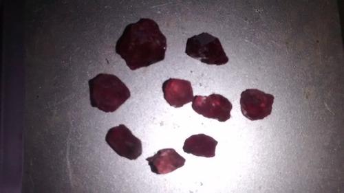 rubi natural brutos 8 ct 9 pedras lindos
