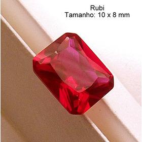 Rubi Pedra Preciosa Preço 1 Gema 10x8 Mm Retângulo 3165