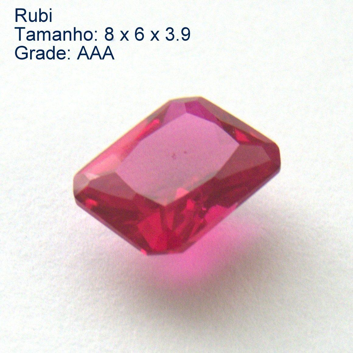 5f6d16988cc rubi pedra preciosa preço de 1 gema 8x6 mm retângulo 3165a. Carregando zoom.