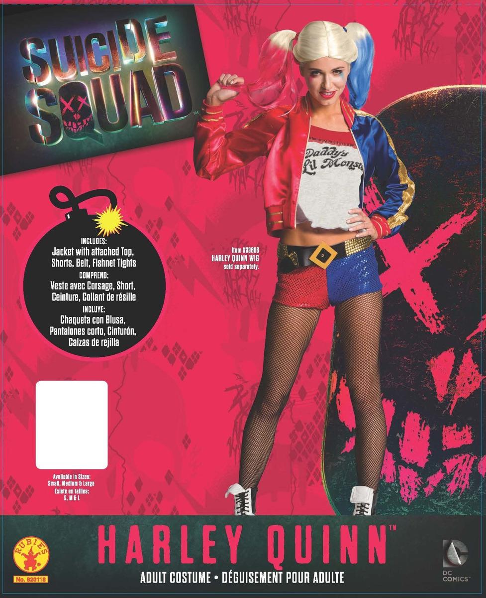 Escuadr/ón suicida, S Disfraz de Harley Quinn Rubies