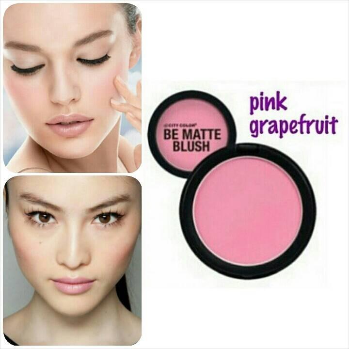 rubores city color be matte blush pink grapefruit