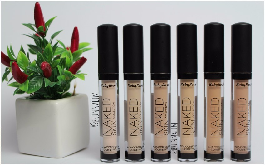 Corretivo L 237 Quido Ruby Rose Naked Skin Todas As Cores R