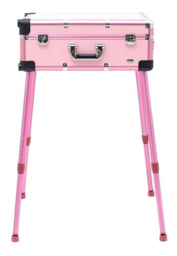 rubys maleta camarim rosa c/ led e bluetooth fs1313-2