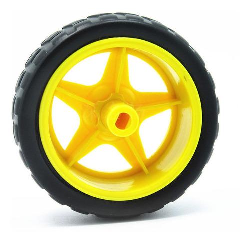 rueda 65mm para caja reductora arduino smart car