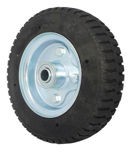 rueda 8 x 2` plana negra eje 5/8 con balinera troquelada ims