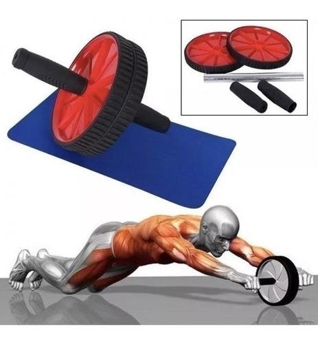 rueda abdominal deporte ejercicios yoga pilates con tapete