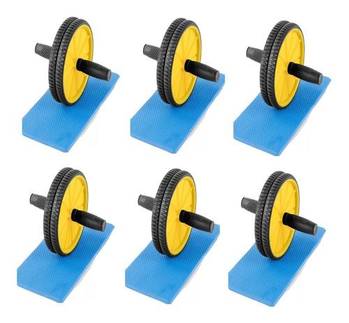 rueda abdominal doble + alfombra incluida x 6 unidades