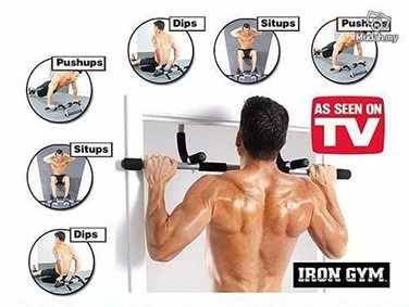 rueda abdominal + iron gym barra ab super combo multifuncion