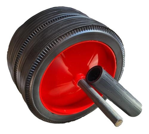 rueda abdominales doble trops ab wheel mango grip