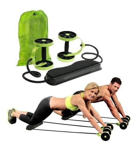 rueda abdominales revoflex xtreme + bolso+guia de ejercicios