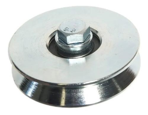 rueda acanalada de acero de 80mm para portones canal v hofer