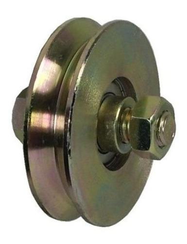 rueda acero porton corredizo 100 mm v c/ ruleman reforzada