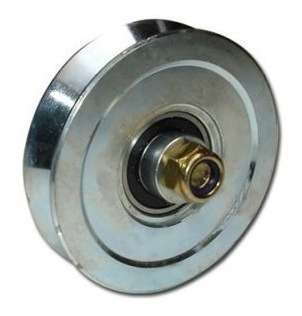 rueda acero porton corredizo 140 mm v ruleman h. tuyu