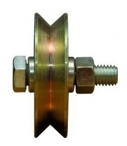 rueda acero porton corredizo 160 mm v ruleman h. tuyu