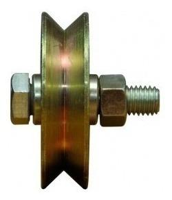 rueda acero porton corredizo 70 mm v ruleman h. tuyu