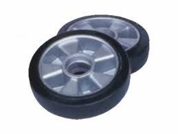 rueda aluminio poliuretano traspaleta manual delantera 7