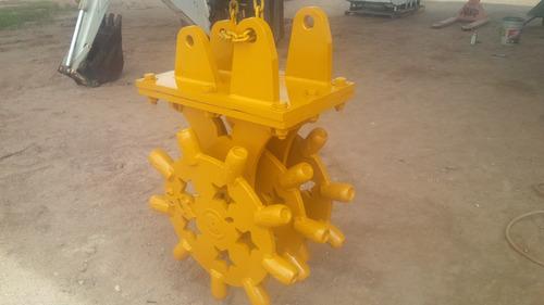 rueda compactadora pata de cabra para retroexcavadora