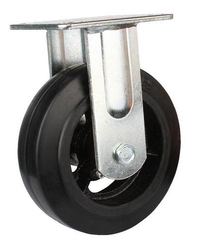 rueda con base fija reforzada 200mm código 154