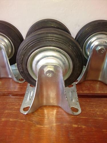 rueda d goma 4 pulgadas fija