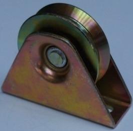 rueda de acero portón corredizo con caja y rodamiento 70mm