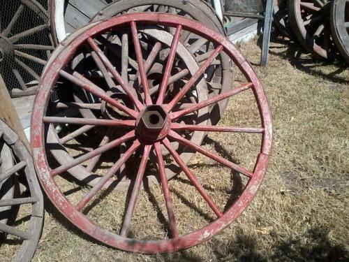 rueda de carro madera sulky