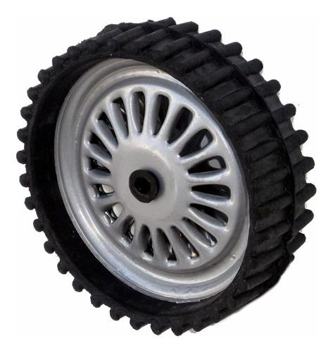 rueda de chapa y goma para karting jeep auto a pedal  ruedas