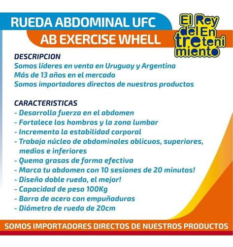 rueda de ejercicio ufc abdominal ab wheel gimnasio - el rey