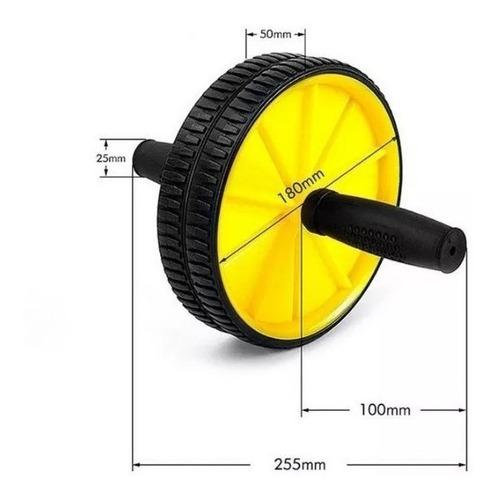 rueda de ejercicios abdominales + colchoneta rodillas/ 00413