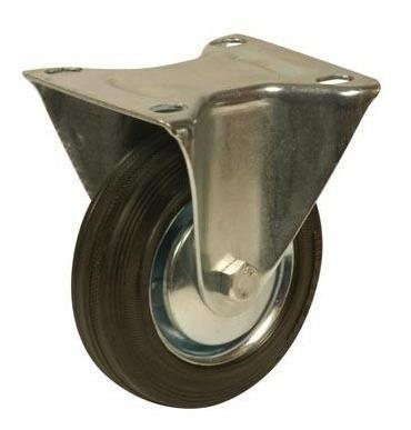 rueda de goma con base fija 75mm código 130