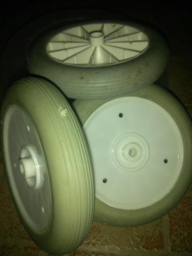 rueda de goma termoplastica  para carritos de mercado.