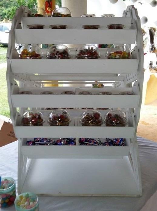Rueda de la fortuna plus mdf dulcero centro de mesa for Mini candy bar de madera