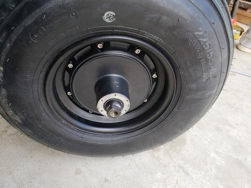 rueda de repuesto con motor incluido para scooter electrico