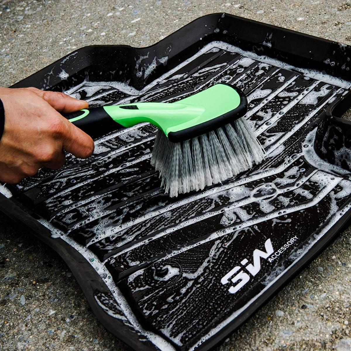 rueda del coche de 3w cepillo química resistente tire clean. Cargando zoom. 4e41f5e372bd
