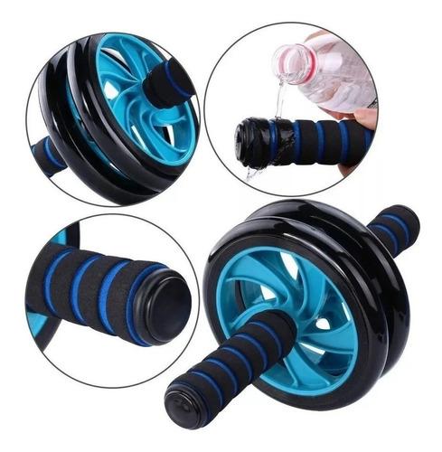 rueda doble ejercicios abdominales + mini alfombra / lhua