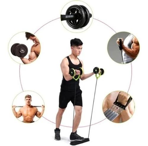 rueda ejercicios abdominales banda elástica revoflex / 2690