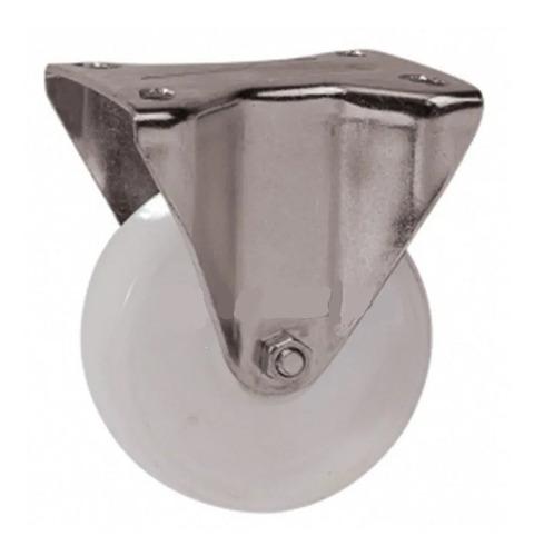 rueda fija de polipropileno blanco de 50mm hofer 168-2