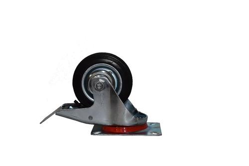 rueda giratoria c/freno  goma 85mm 45kg nerungf085 nebraska