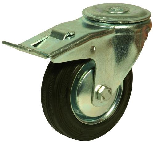 rueda giratoria de goma ø125mm para mesa de pallets juegox4